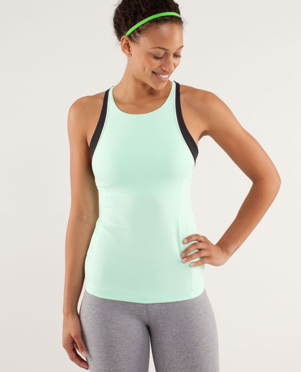 Lululemon Vinyasa Surf Tank - Fresh Teal / White / Black