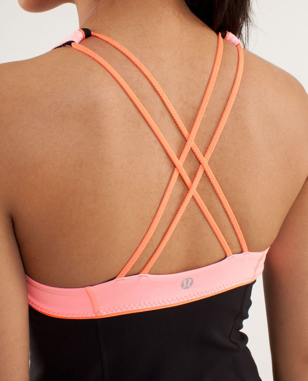 Lululemon Vinyasa Surf Tank - Black / Bleached Coral / Pop Orange