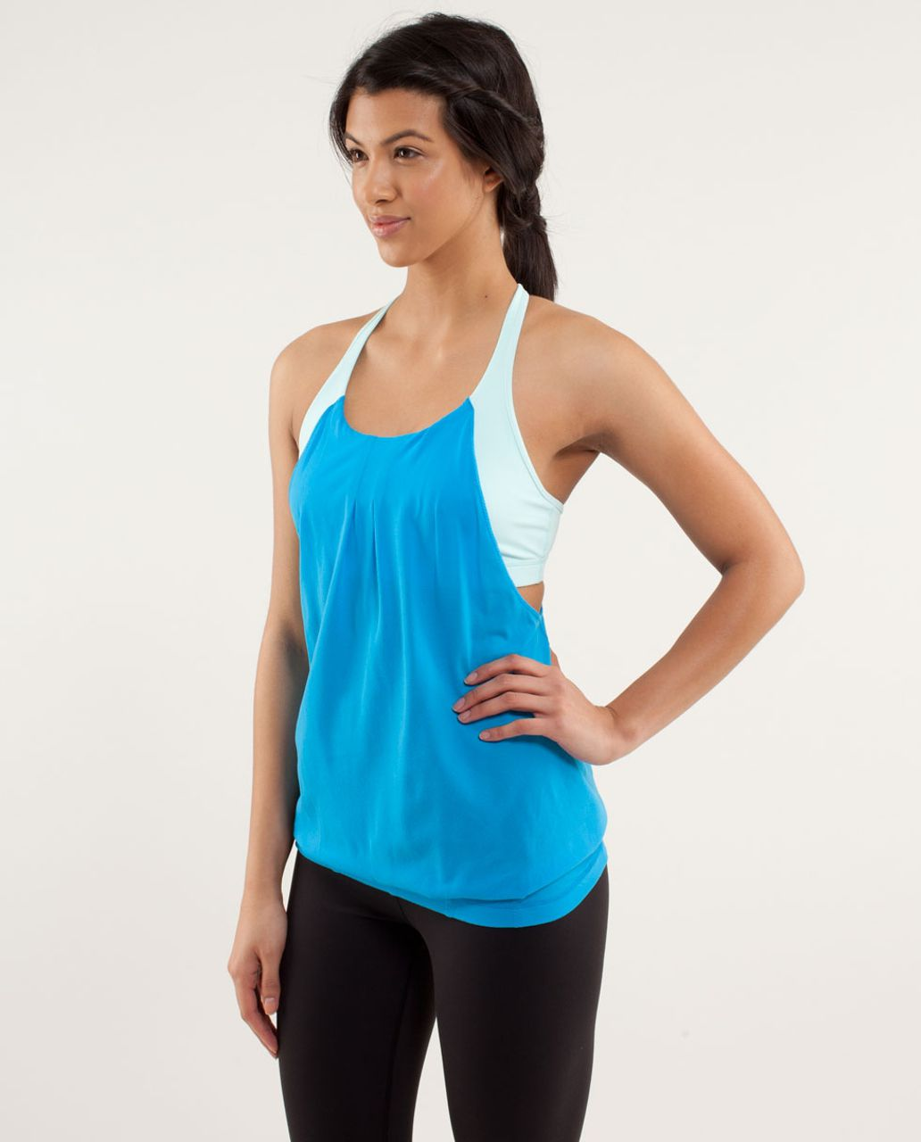 Lululemon Practice Freely Tank - Beach Blanket Blue / Aquamarine