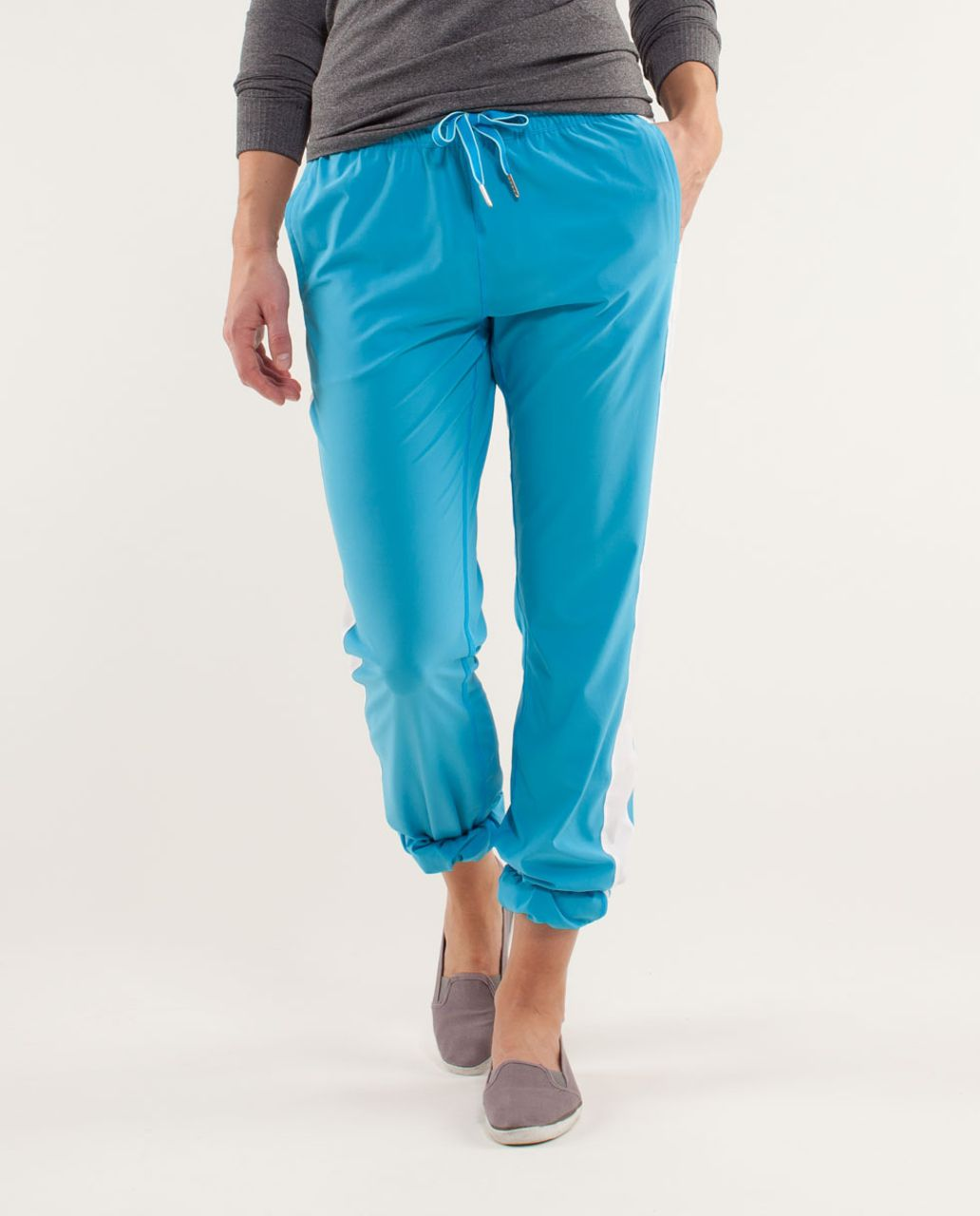 Lululemon Work It Out Track Pant - Kayak Blue / White / Aquamarine