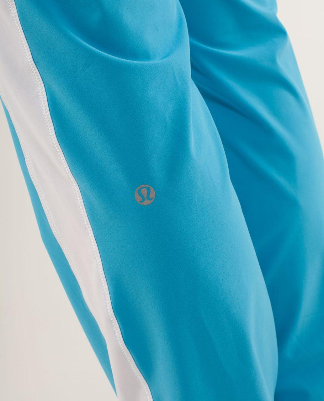 Lululemon Work It Out Track Pant - Kayak Blue / White / Aquamarine