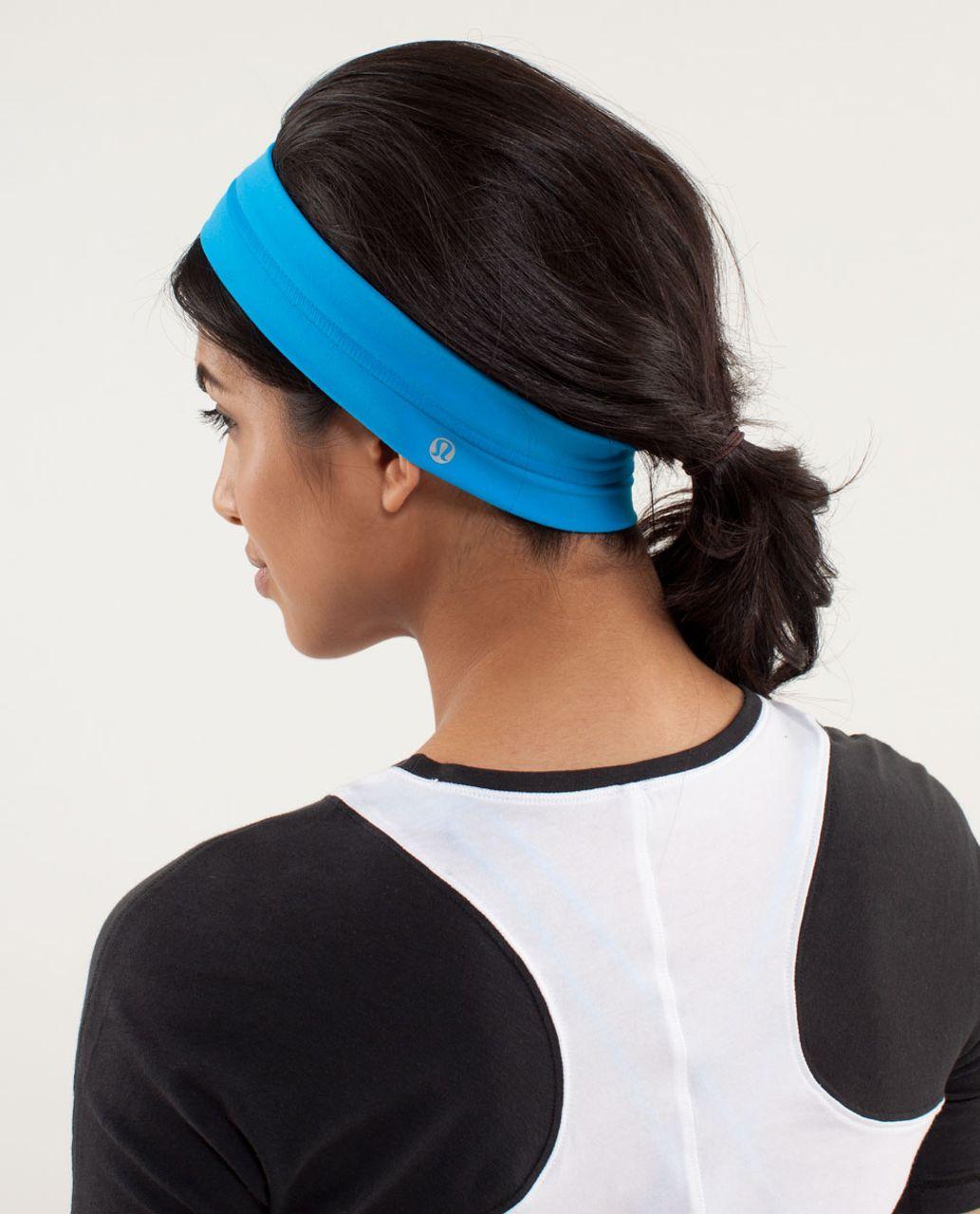 Lululemon Fly Away Tamer Headband - Beach Blanket Blue