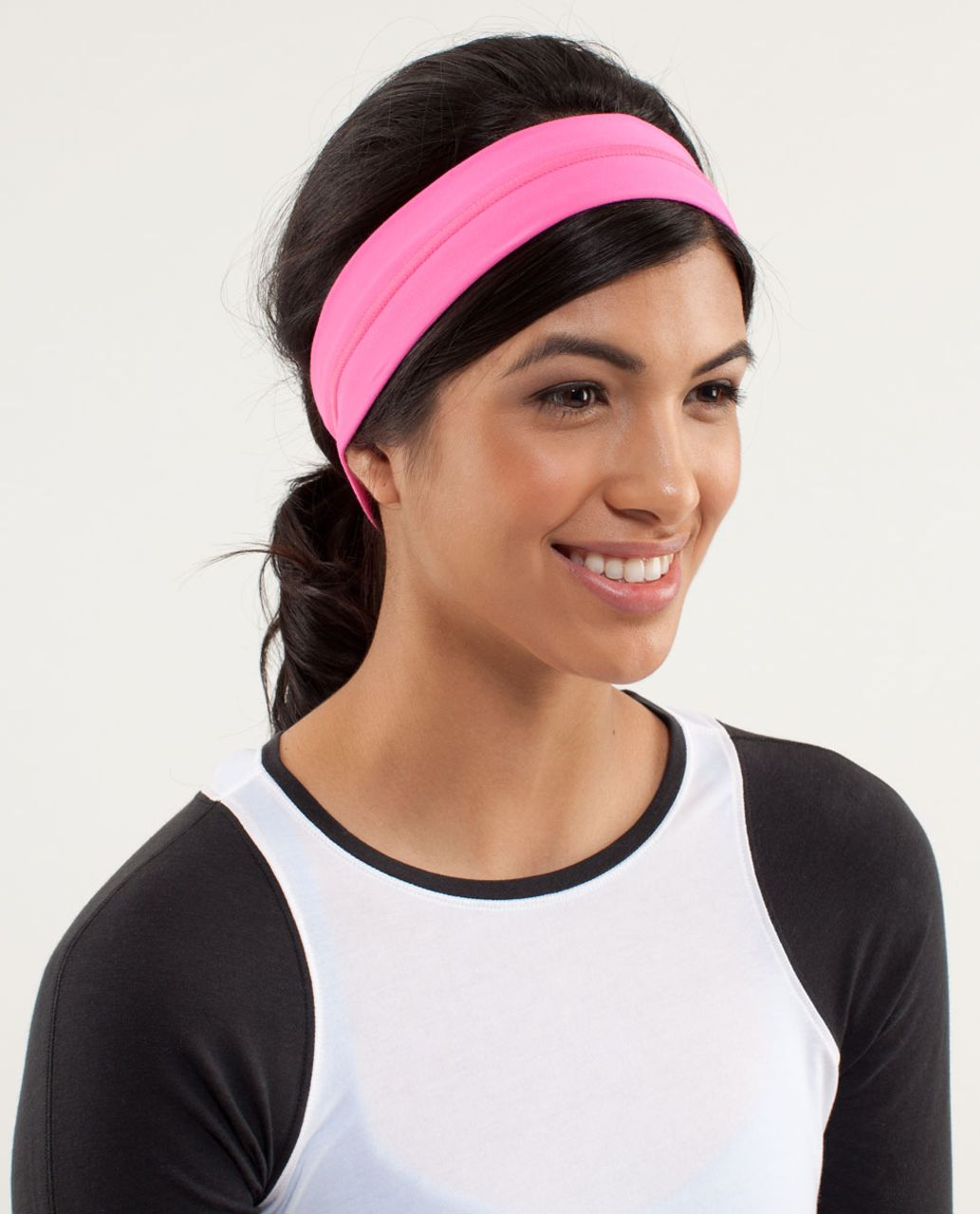 Lululemon Fly Away Tamer Headband - Pinkelicious