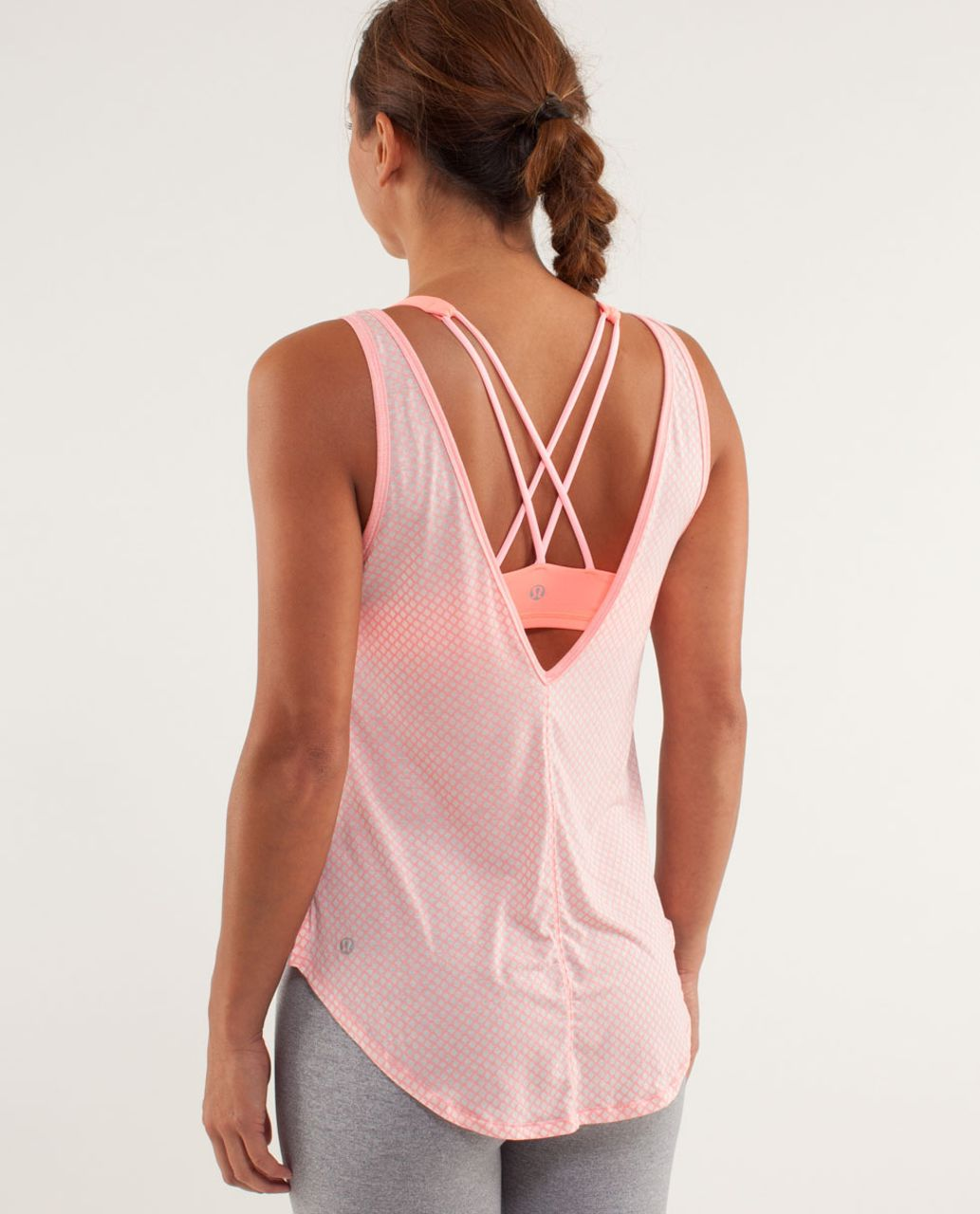 Lululemon Burn It Out Tank - Mesh Burnout Bleached Coral / Bleached Coral