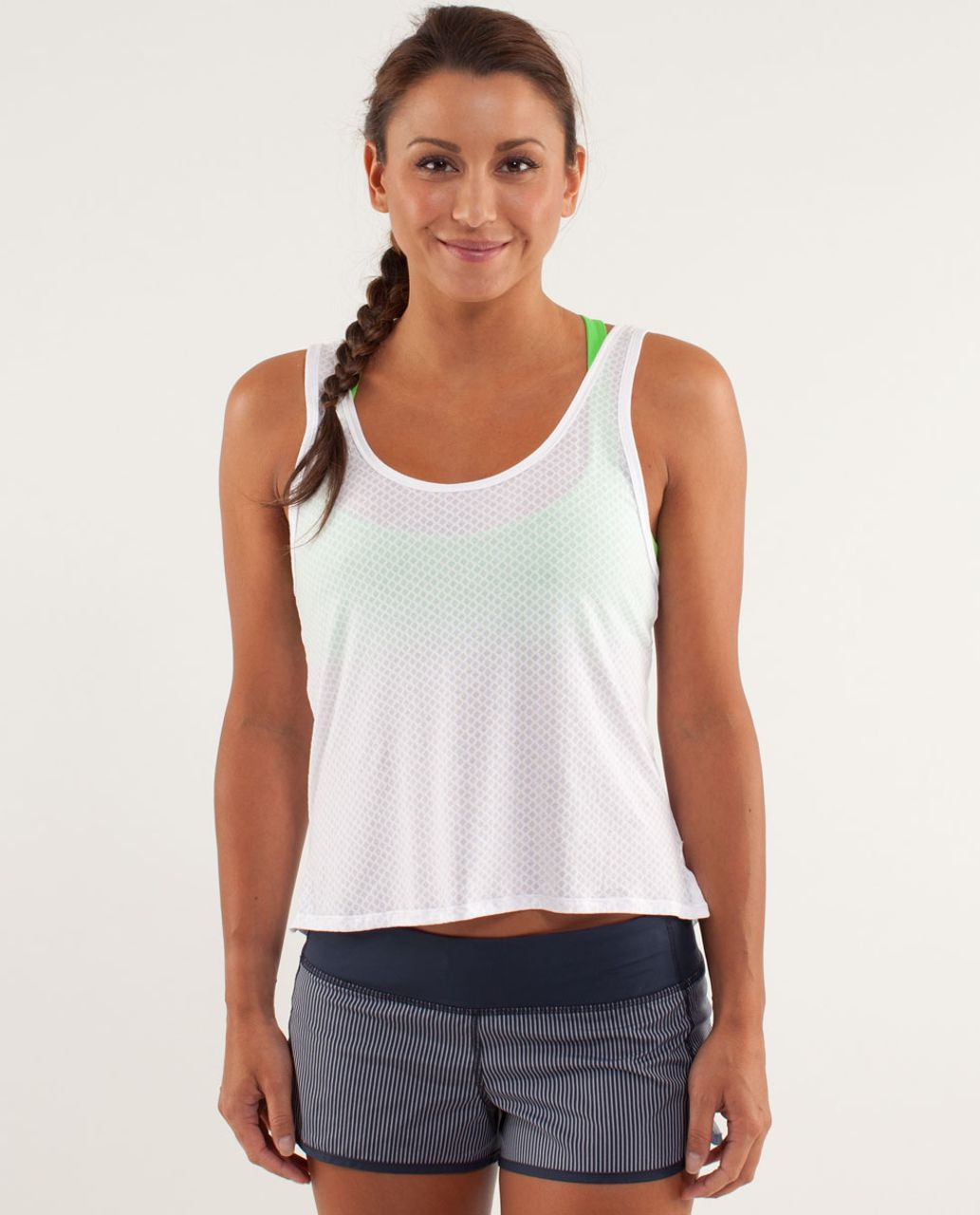 Lululemon Burn It Out Tank - Mesh Burnout White / White