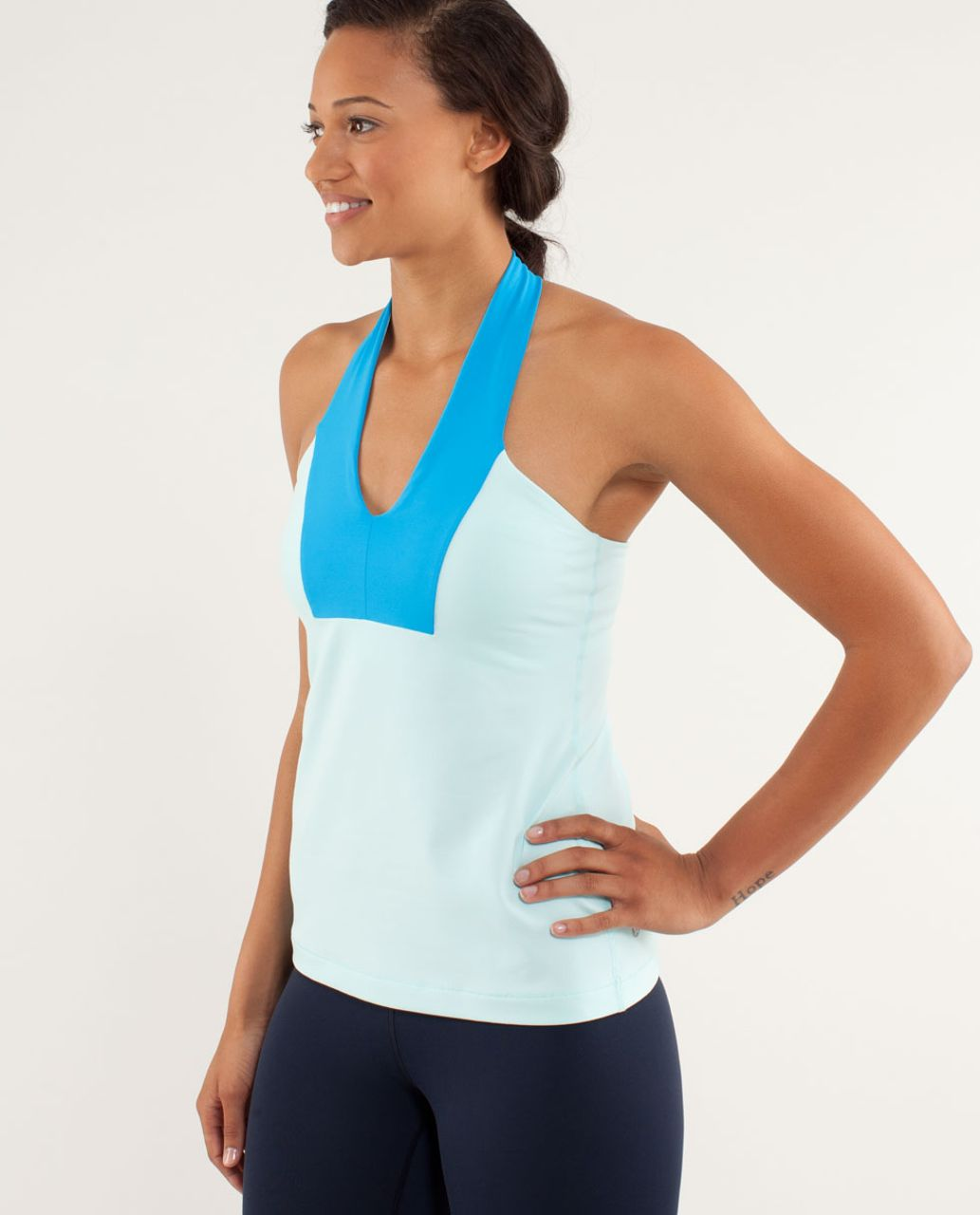 Lululemon Open Soul Tank - Aquamarine / Beach Blanket Blue / Aquamarine