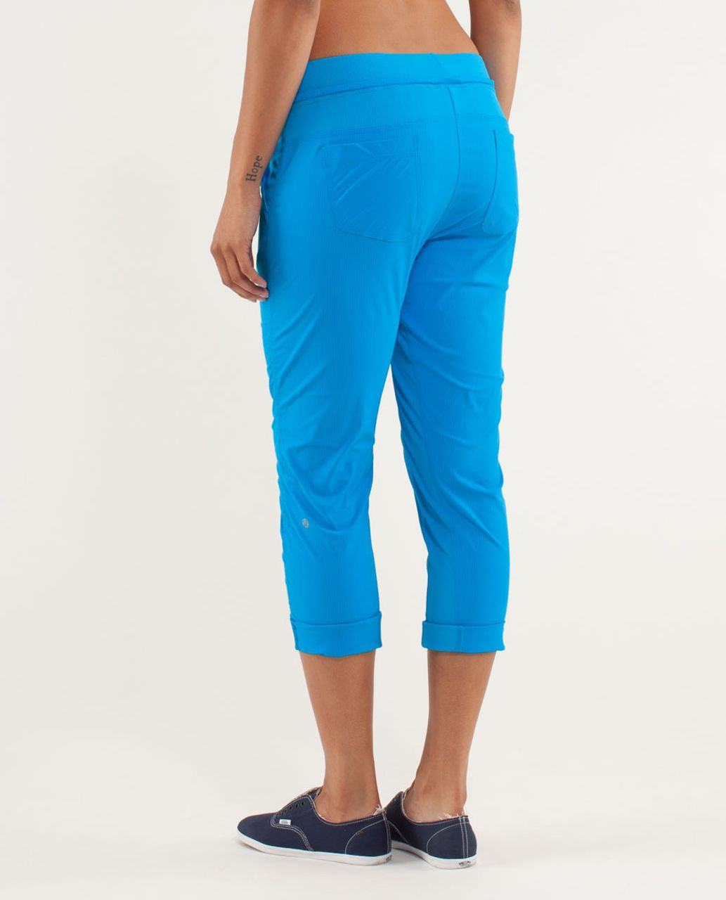 Lululemon Street To Studio Crop *No Liner - Beach Blanket Blue