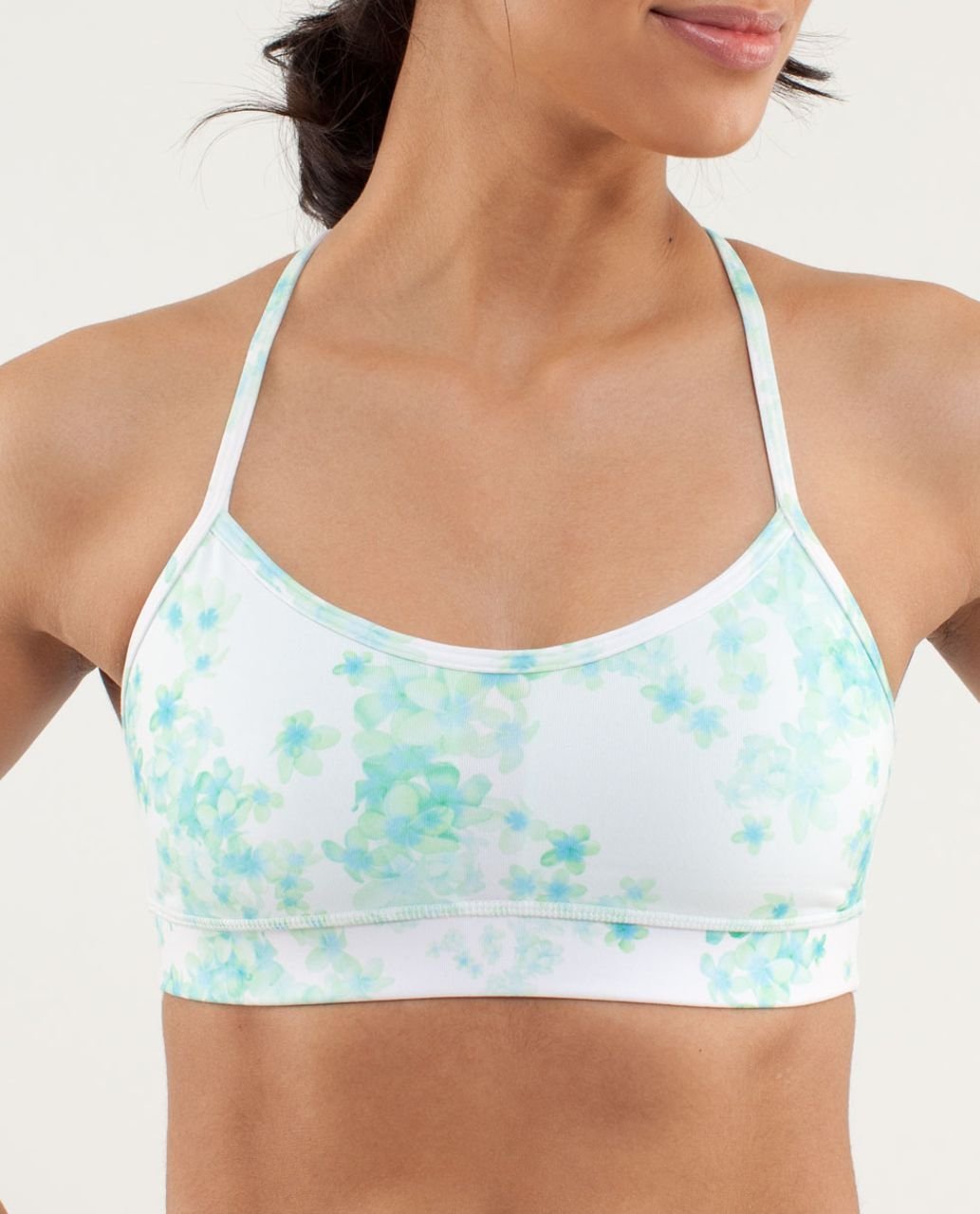 Lululemon Flow Y Bra IV - Frangipani Very Green / White