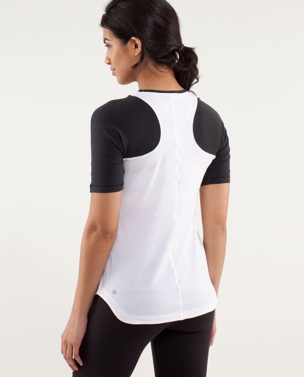 Lululemon Clari-Tee Short Sleeve - White /  Black