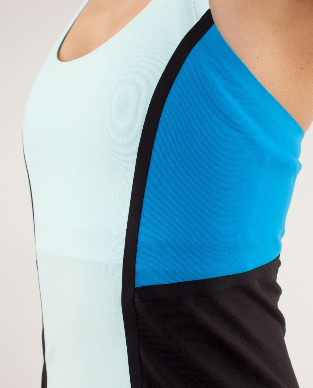 Lululemon Cool Racerback *Surf Bonded - Aquamarine / Beach Blanket Blue / Black