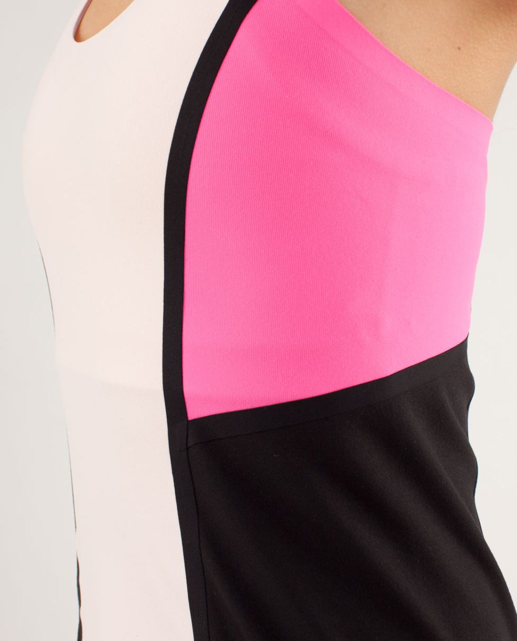 Lululemon Cool Racerback *Surf Bonded - Parfait Pink / Pinkelicious / Black