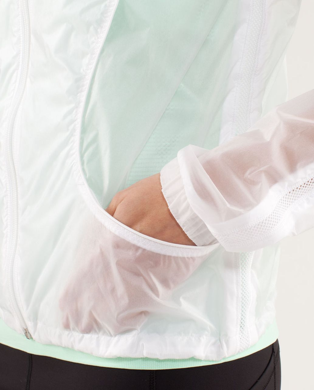 Lululemon Transparent-See Jacket - White