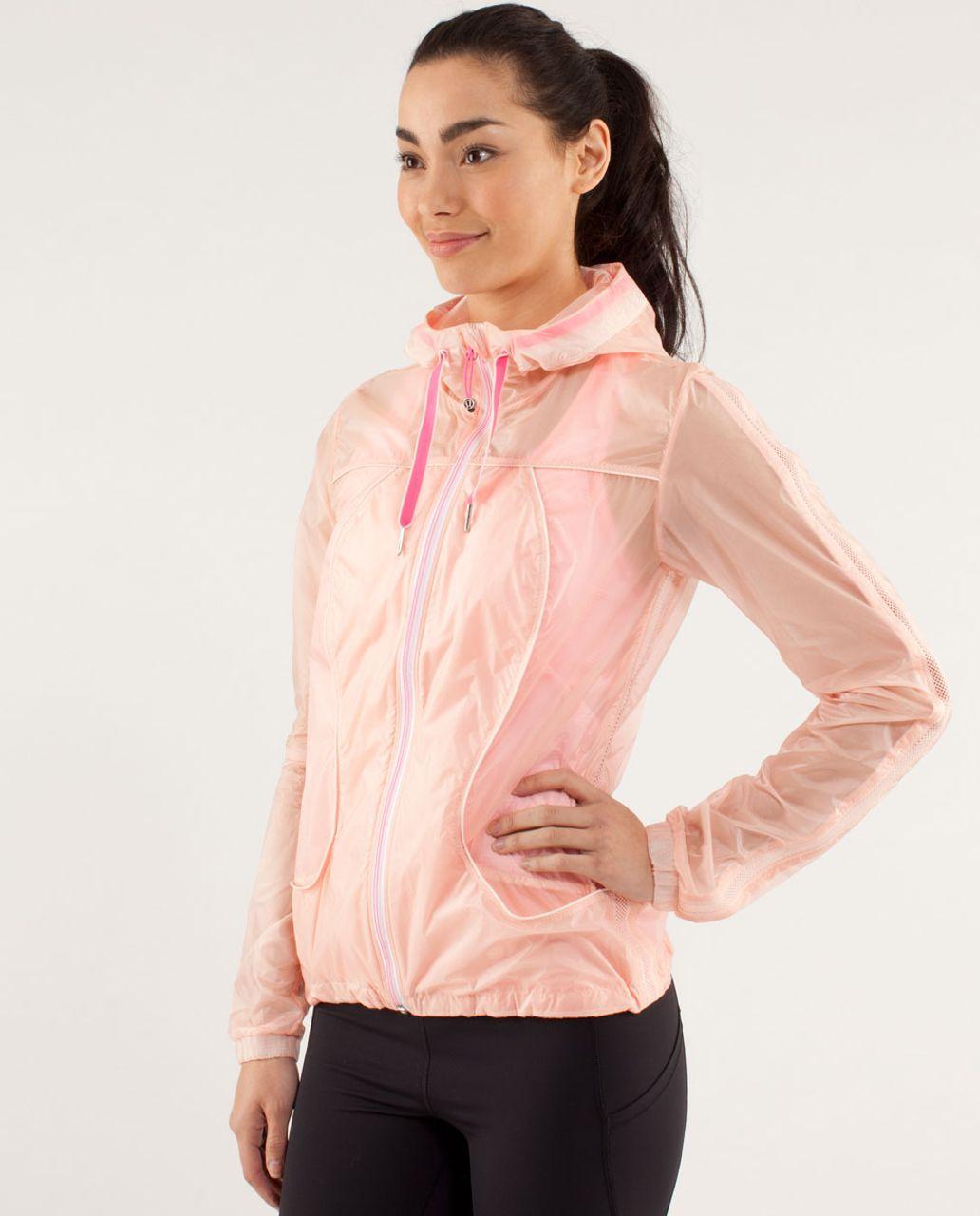 Lululemon Transparent-See Jacket - Parfait Pink / Pinkelicious