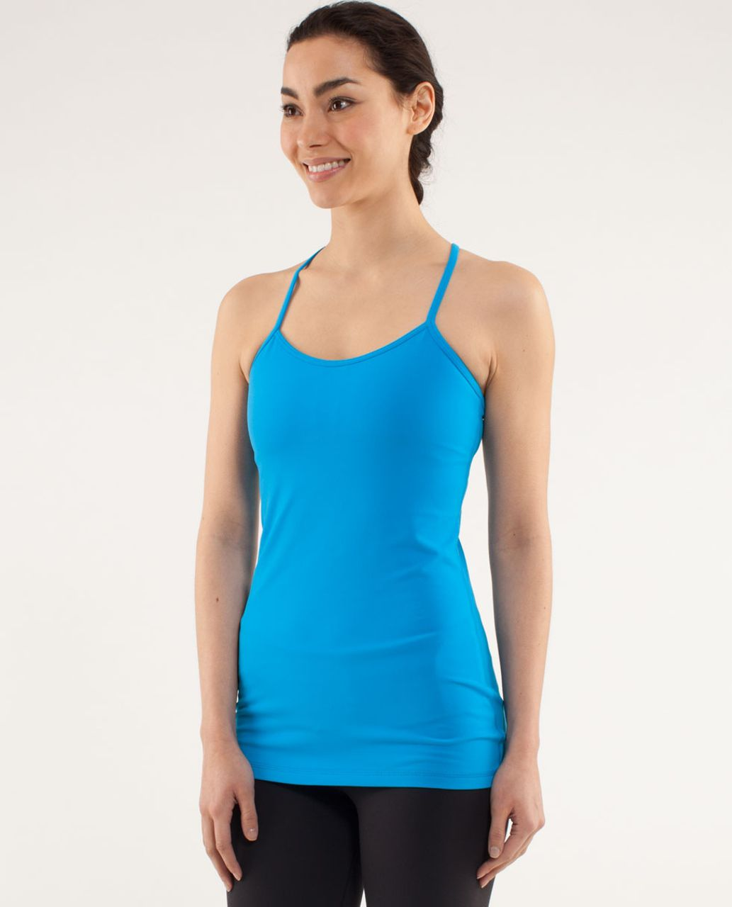 Lululemon Power Y Tank *Luon Light - Beach Blanket Blue