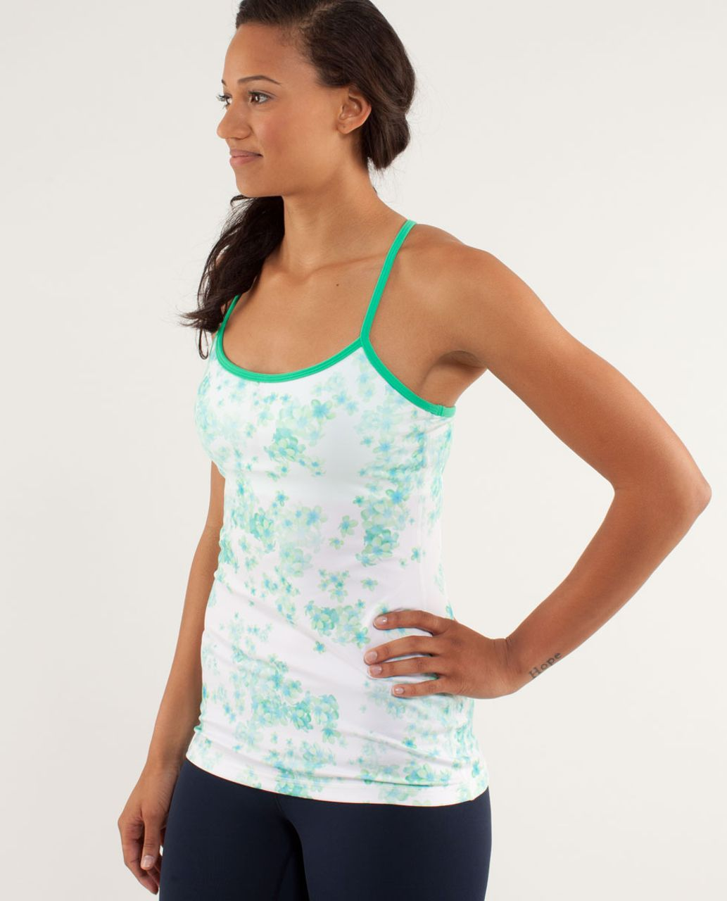 Lululemon Power Y Tank *Luon Light - Frangipani Very Green / Very Green