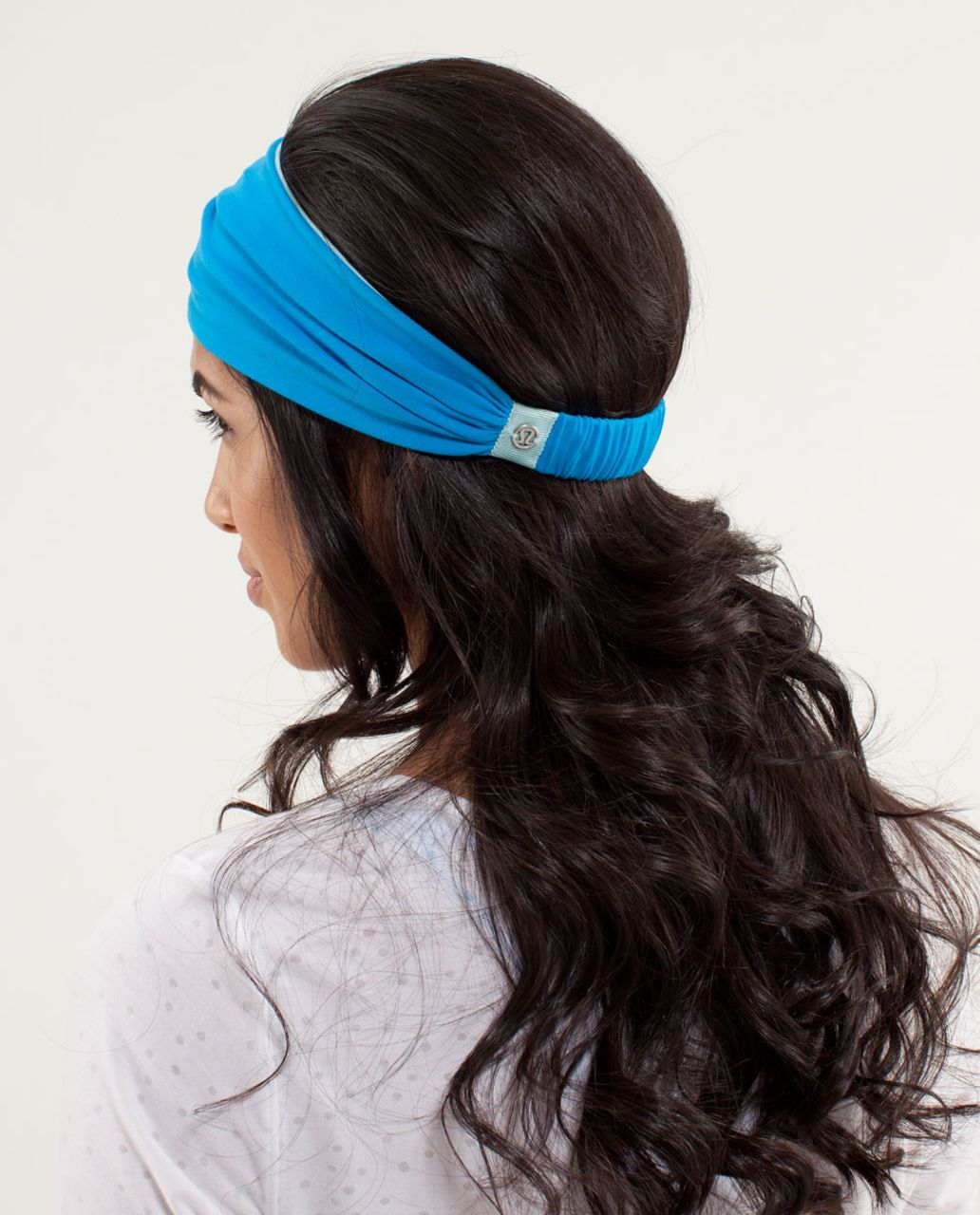 Lululemon Bang Buster Headband *Reversible - Beach Blanket Blue / Aquamarine