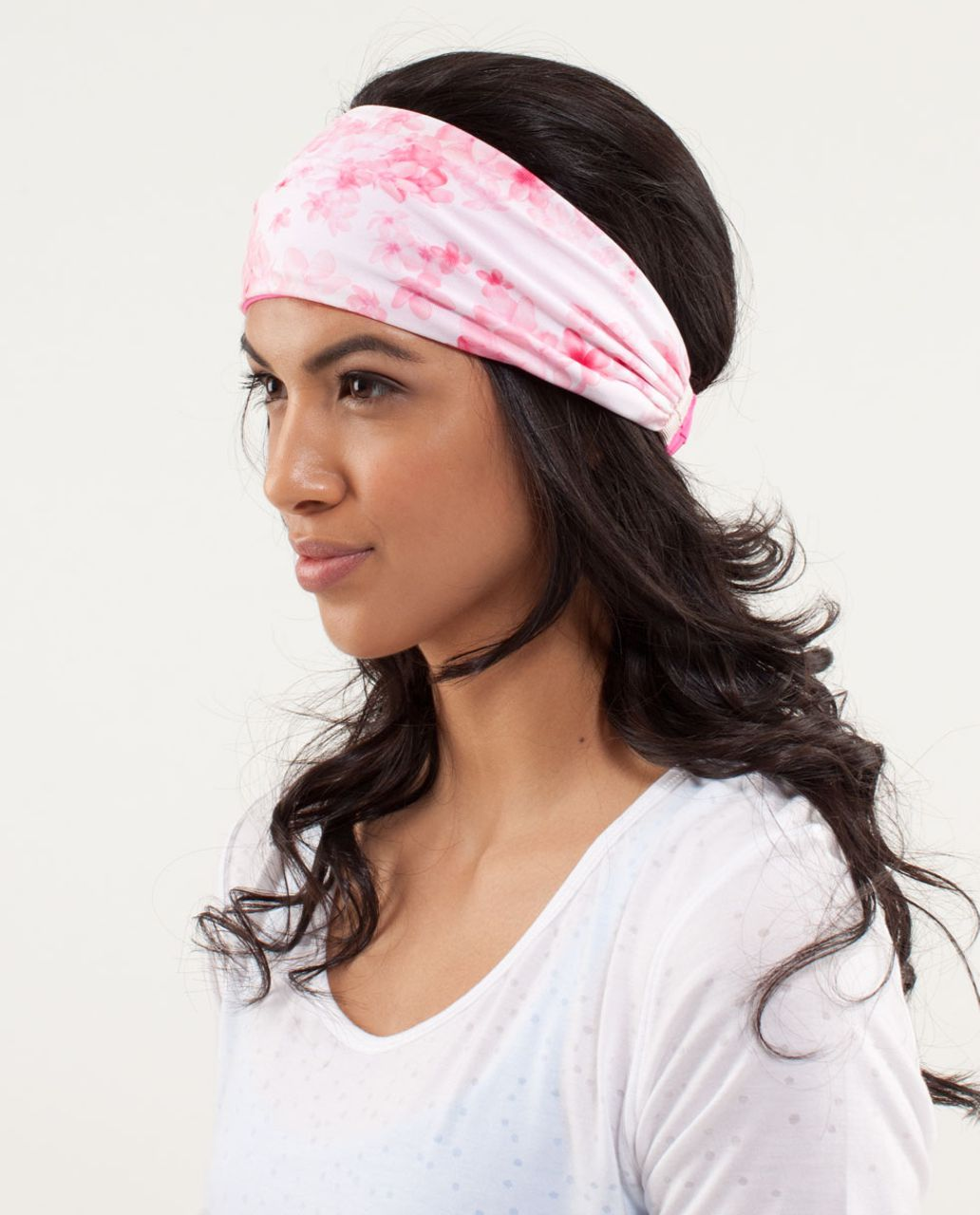 Lululemon Bang Buster Headband *Reversible - Pinkelicious / Frangipani Parfait Pink