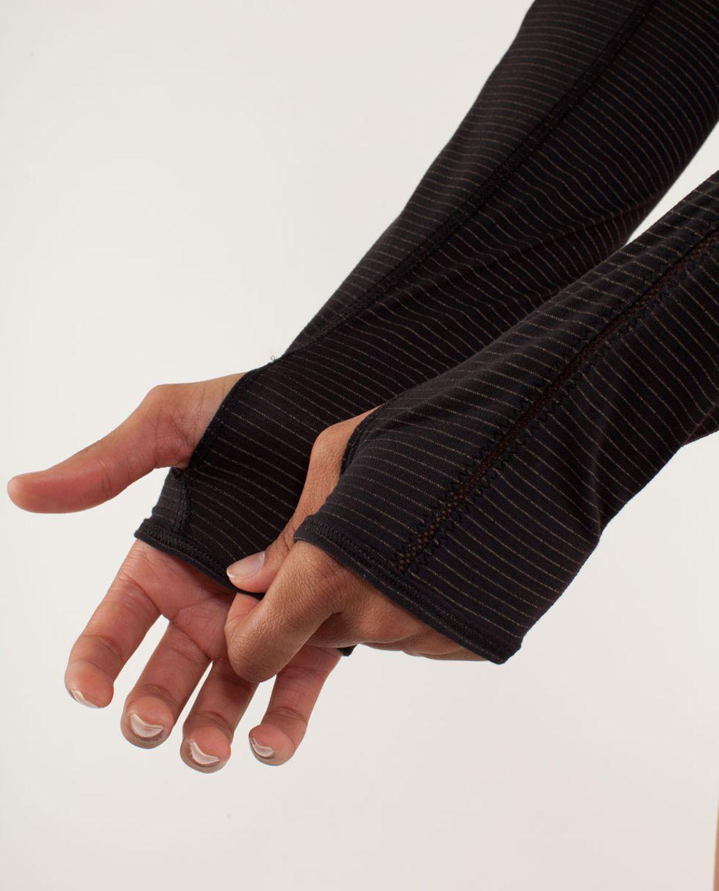 Lululemon Run:  Silver Lining Long Sleeve - Black