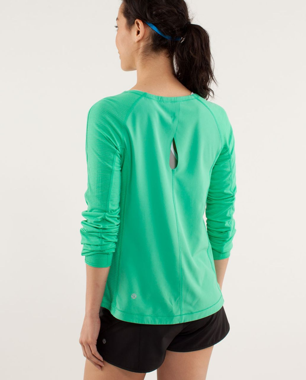 Lululemon Run:  Silver Lining Long Sleeve - Very Green / Fresh Teal