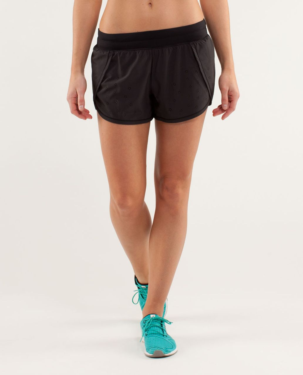 Lululemon Run:  Breeze By Short *Laser Cut - Black