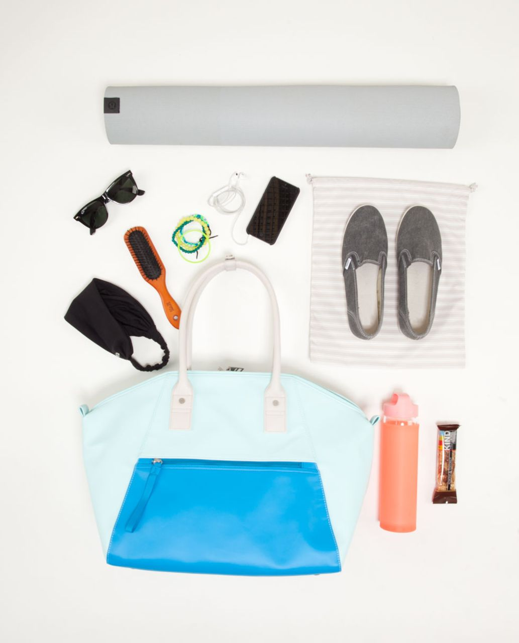 Lululemon Vinyasa To Vino Bag - Aquamarine / Beach Blanket Blue