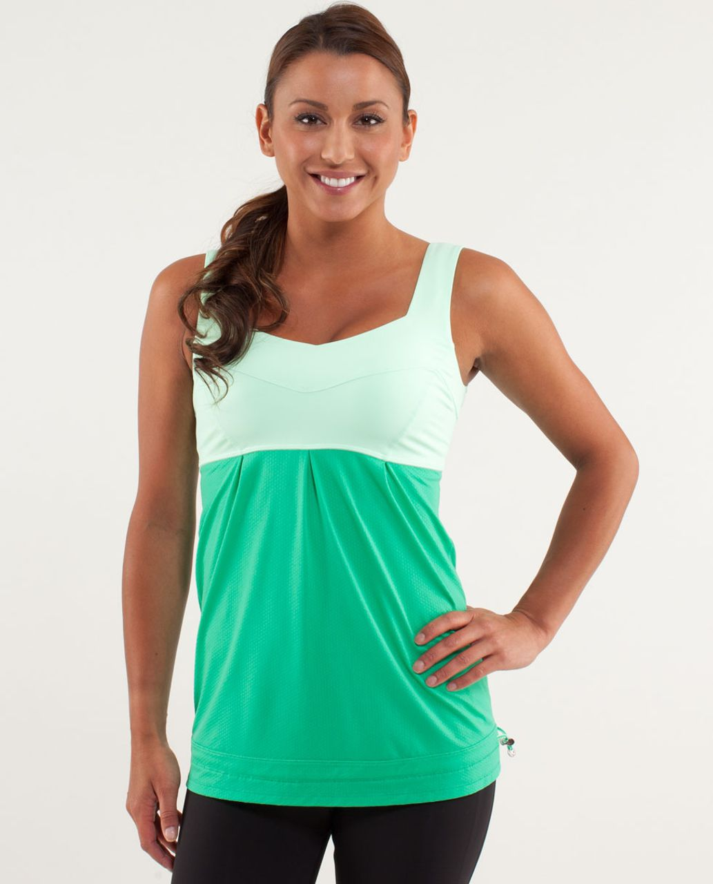Lululemon Run:  Tame Me Tank - Very Green / Fresh Teal
