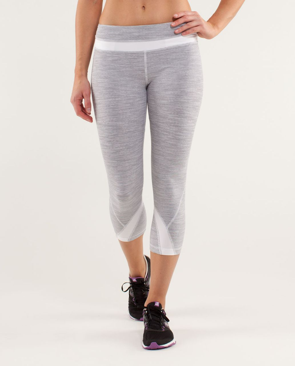 Lululemon Run:  Inspire Crop II - Wee Are From Space White Combo /  White