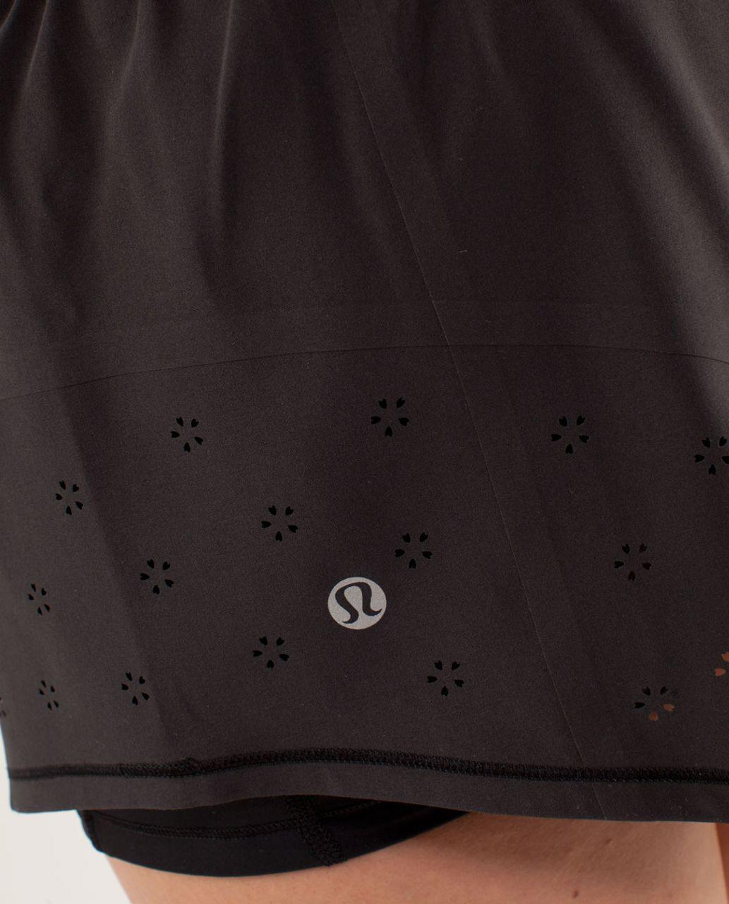 Lululemon Run:  Breeze By Skirt *Laser Cut - Black