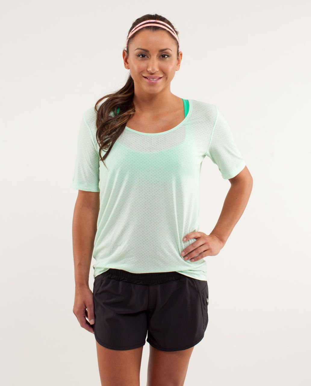 Lululemon Drish Tee - Mesh Burnout Fresh Teal / Fresh Teal