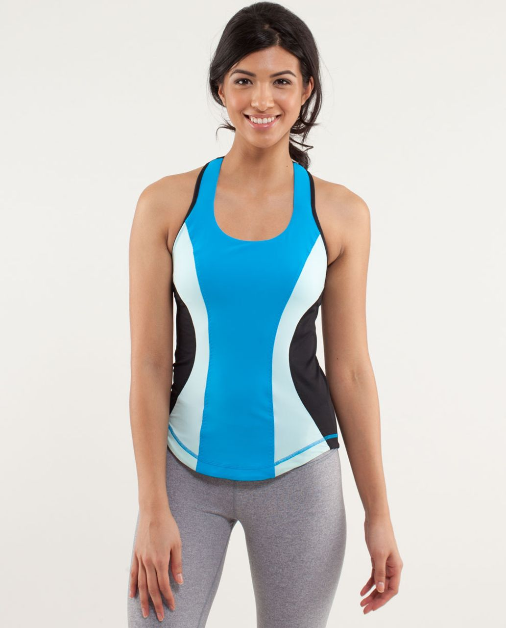 Lululemon Cardio Kick Tank - Beach Blanket Blue / Aquamarine / Black