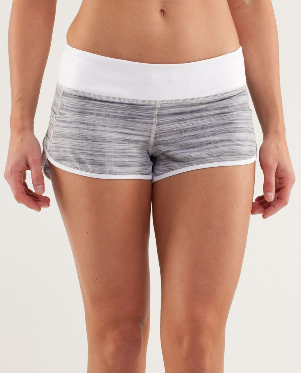 Lululemon Run:  Speed Short - Wee Are From Space White Combo /  White (Horizontal Stripe)
