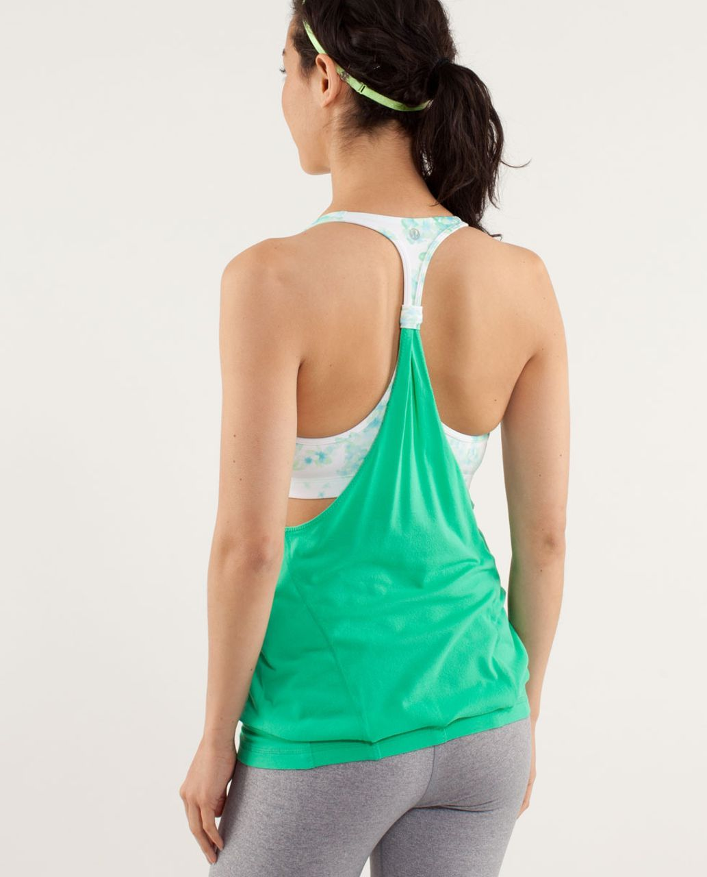 Lululemon Practice Freely Tank - Very Green / Frangipani Very Green