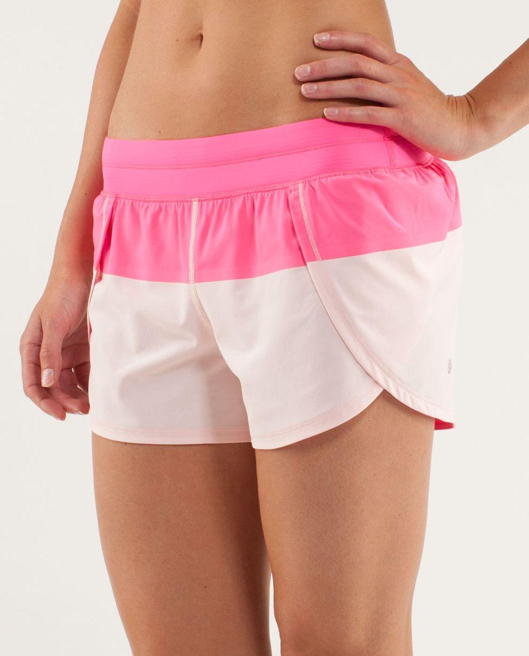 Lululemon Run:  Breeze By Short - Pinkelicious / Parfait Pink