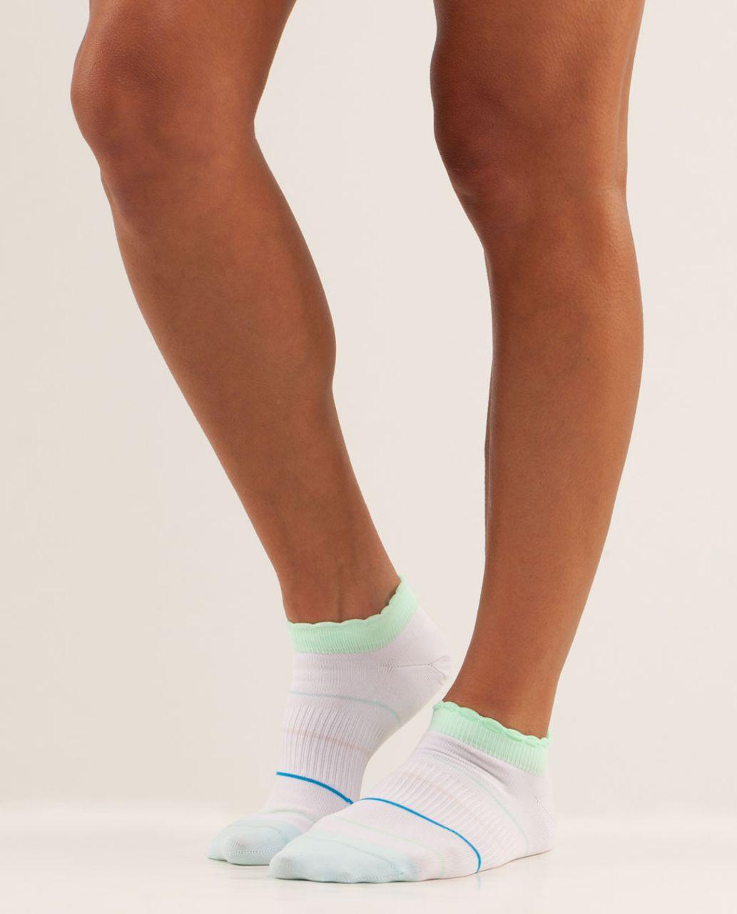Lululemon Run For Ice Cream Sock - Neopolitan Stripe White