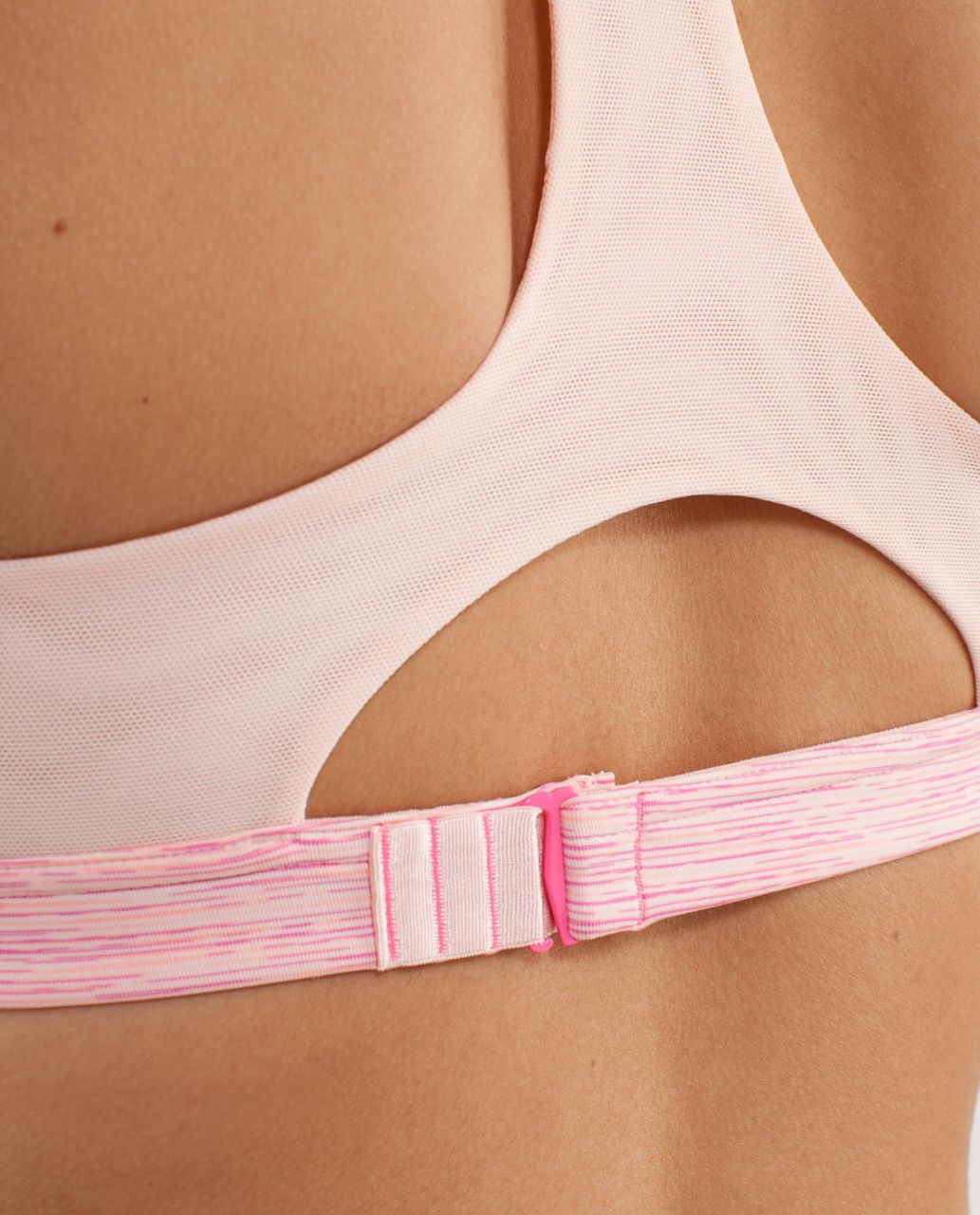 Lululemon Run:  Hook Me Up Bra - Wee Are From Space Parfait Pink