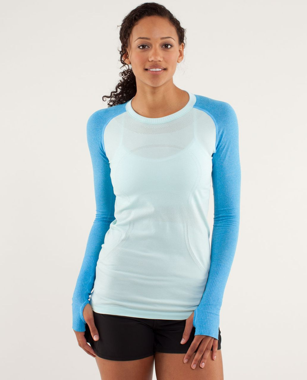5e24ecdb3d361 Lululemon Run  Swiftly Tech Long Sleeve - Aquamarine   Beach Blanket Blue - lulu  fanatics