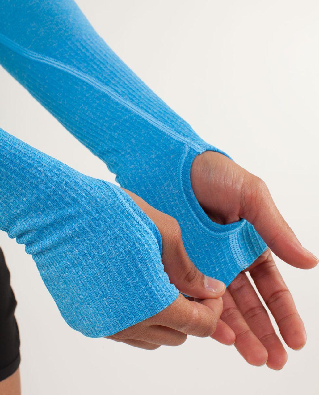 Lululemon Run:  Swiftly Tech Long Sleeve - Aquamarine / Beach Blanket Blue