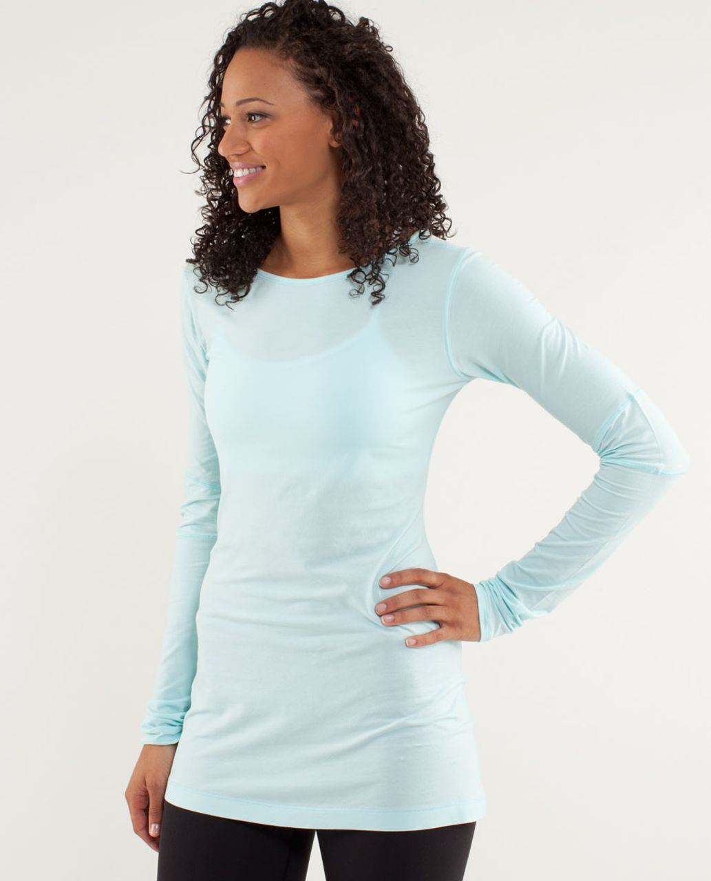 Lululemon Devotion Long Sleeve Tee - Aquamarine