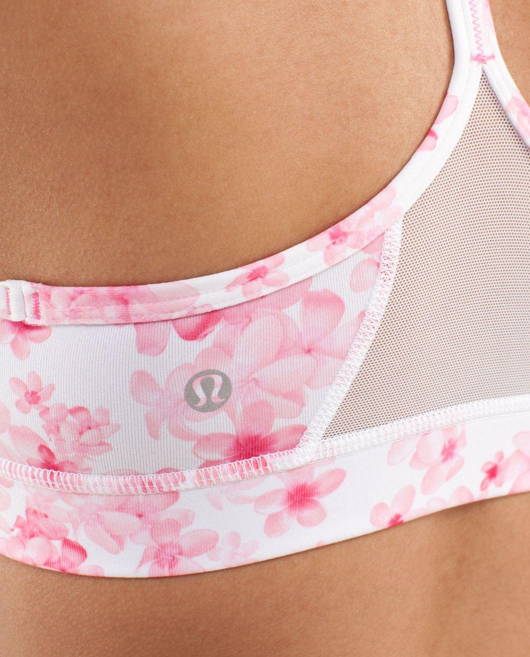 Lululemon Flow Y Bra IV - Frangipani Parfait Pink / White