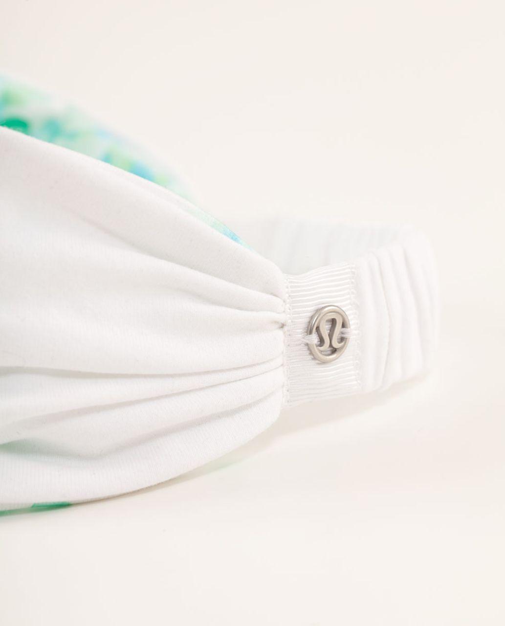 Lululemon Bang Buster Headband *Reversible - White / Frangipani Very Green