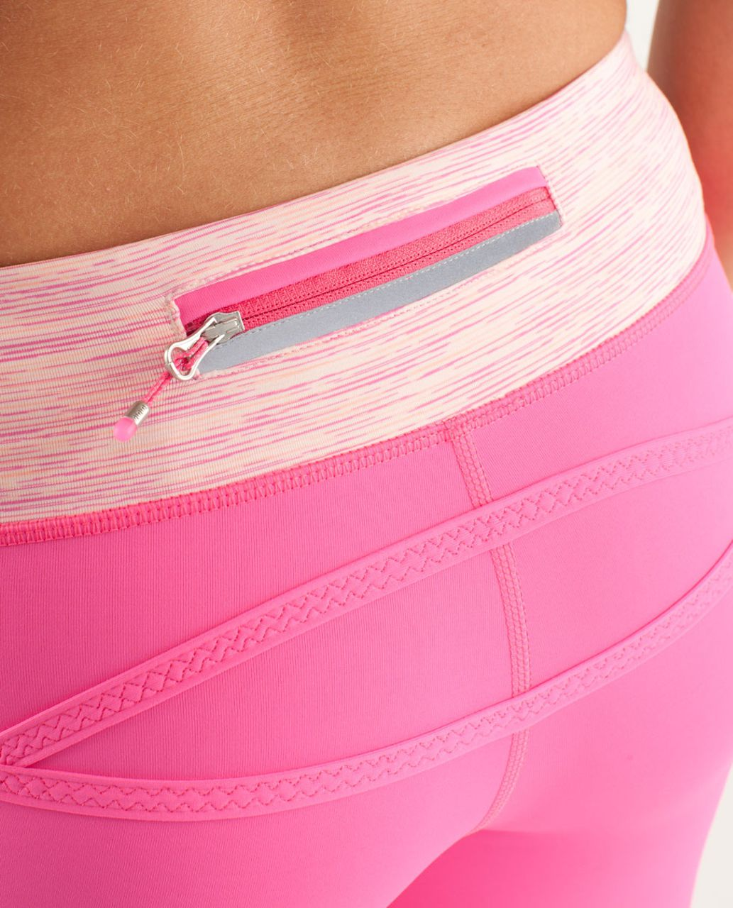 Lululemon Run:  Pace Crop - Pinkelicious / Wee Are From Space Parfait Pink