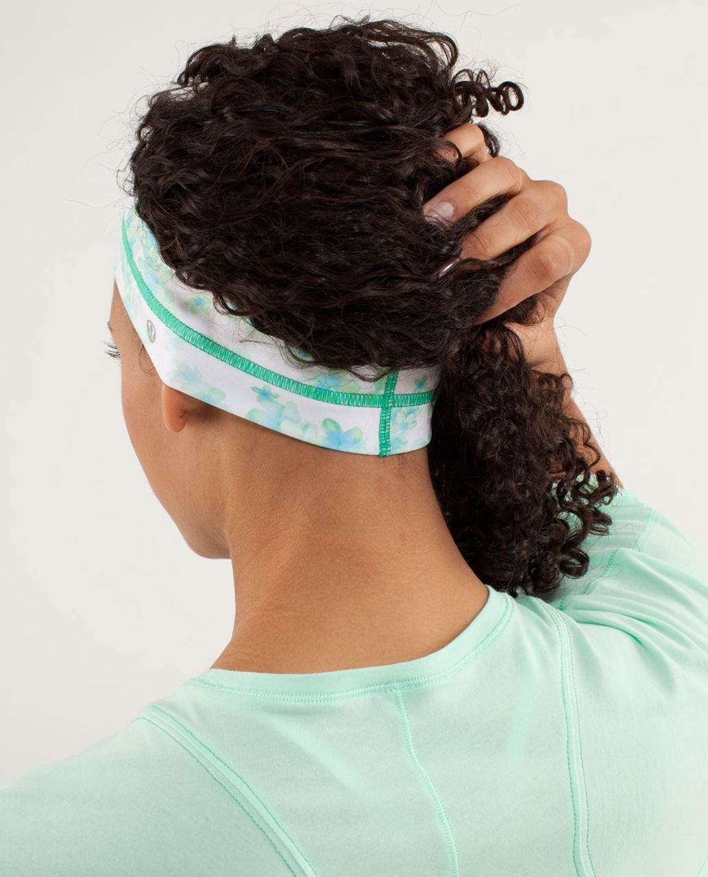 Lululemon Fly Away Tamer Headband - Frangipani Very Green