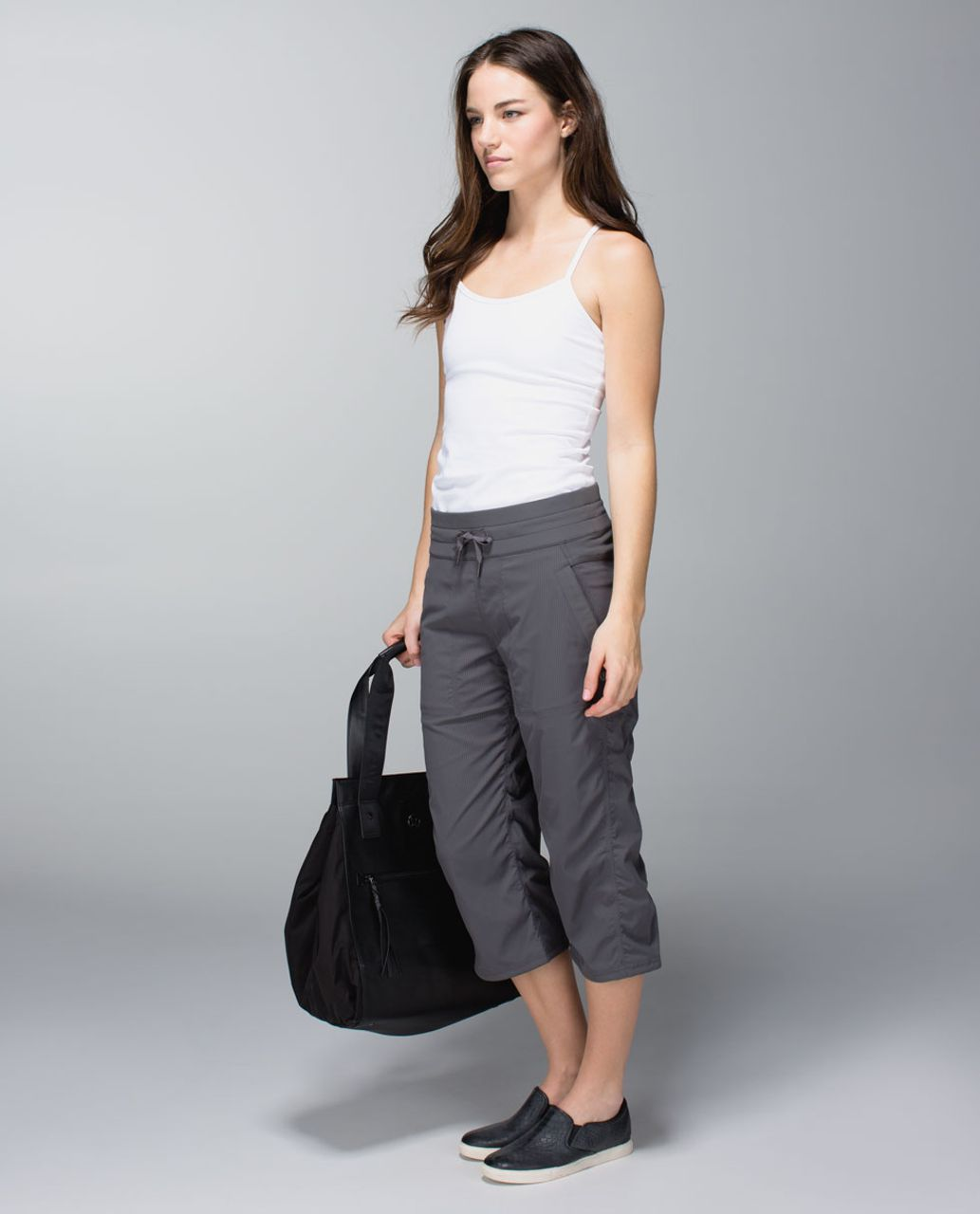 Lululemon Studio Crop *No Liner - Soot Light