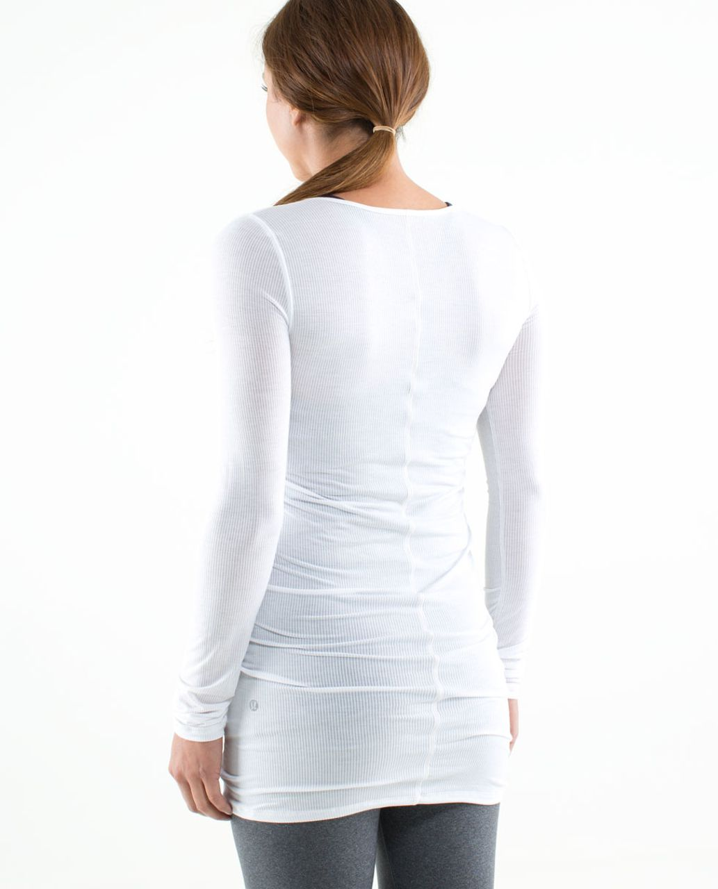 Lululemon Elongate Burnout Long Sleeve - Tonka Stripe White