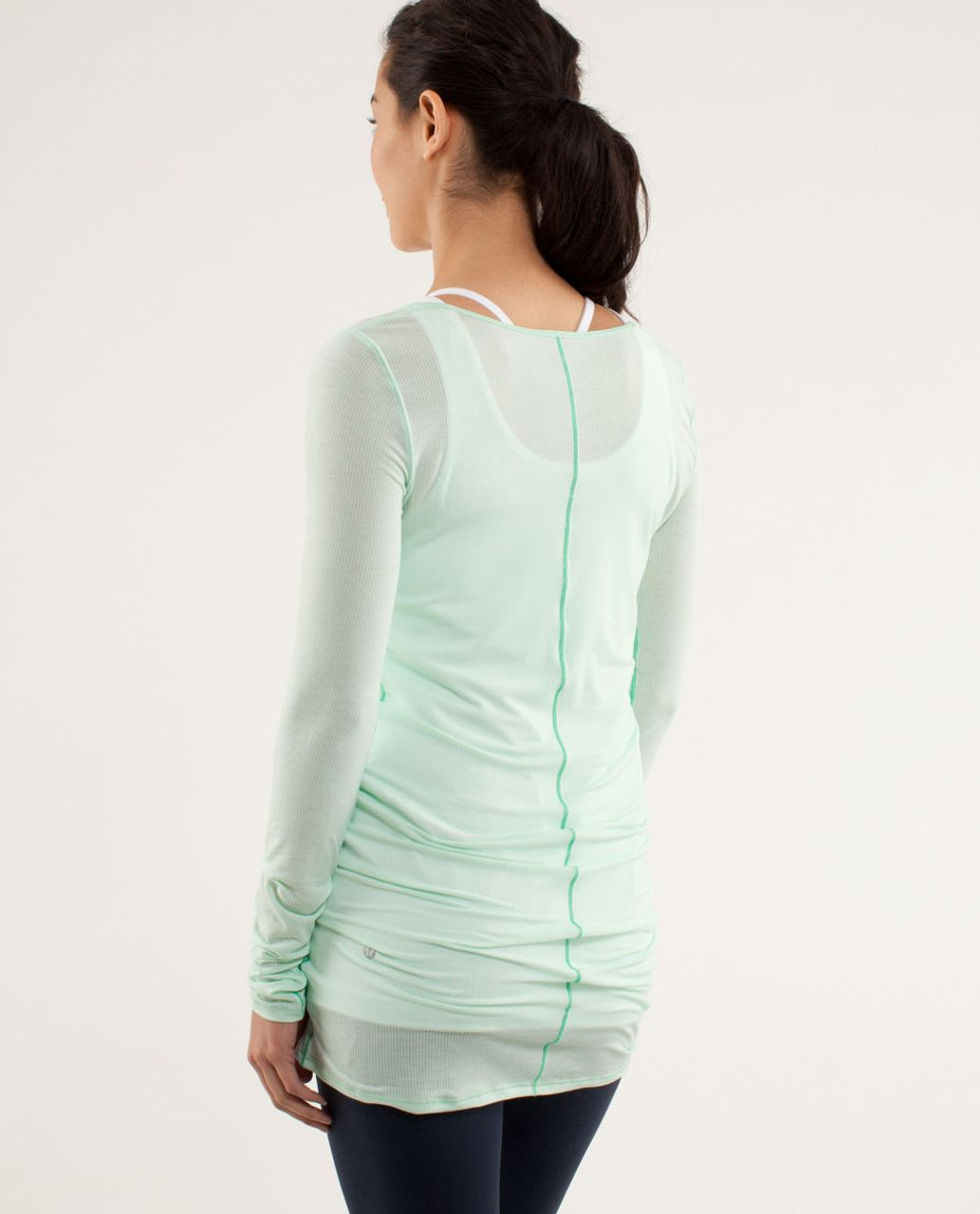 Lululemon Elongate Burnout Long Sleeve - Tonka Stripe Fresh Teal