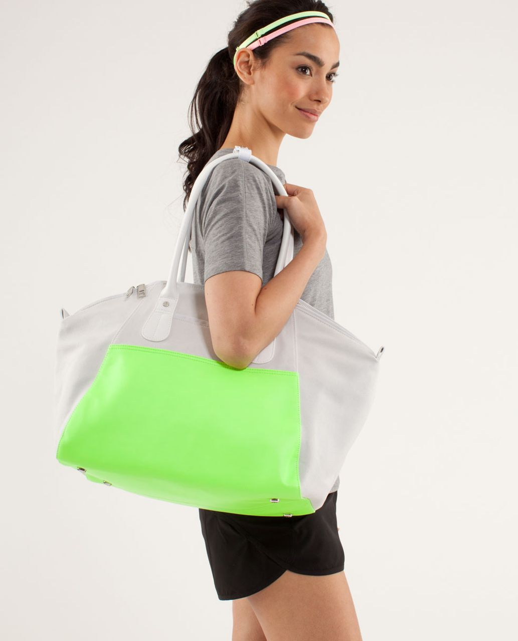 Lululemon Vinyasa To Vino Bag *Canvas - Nimbus / Zippy Green