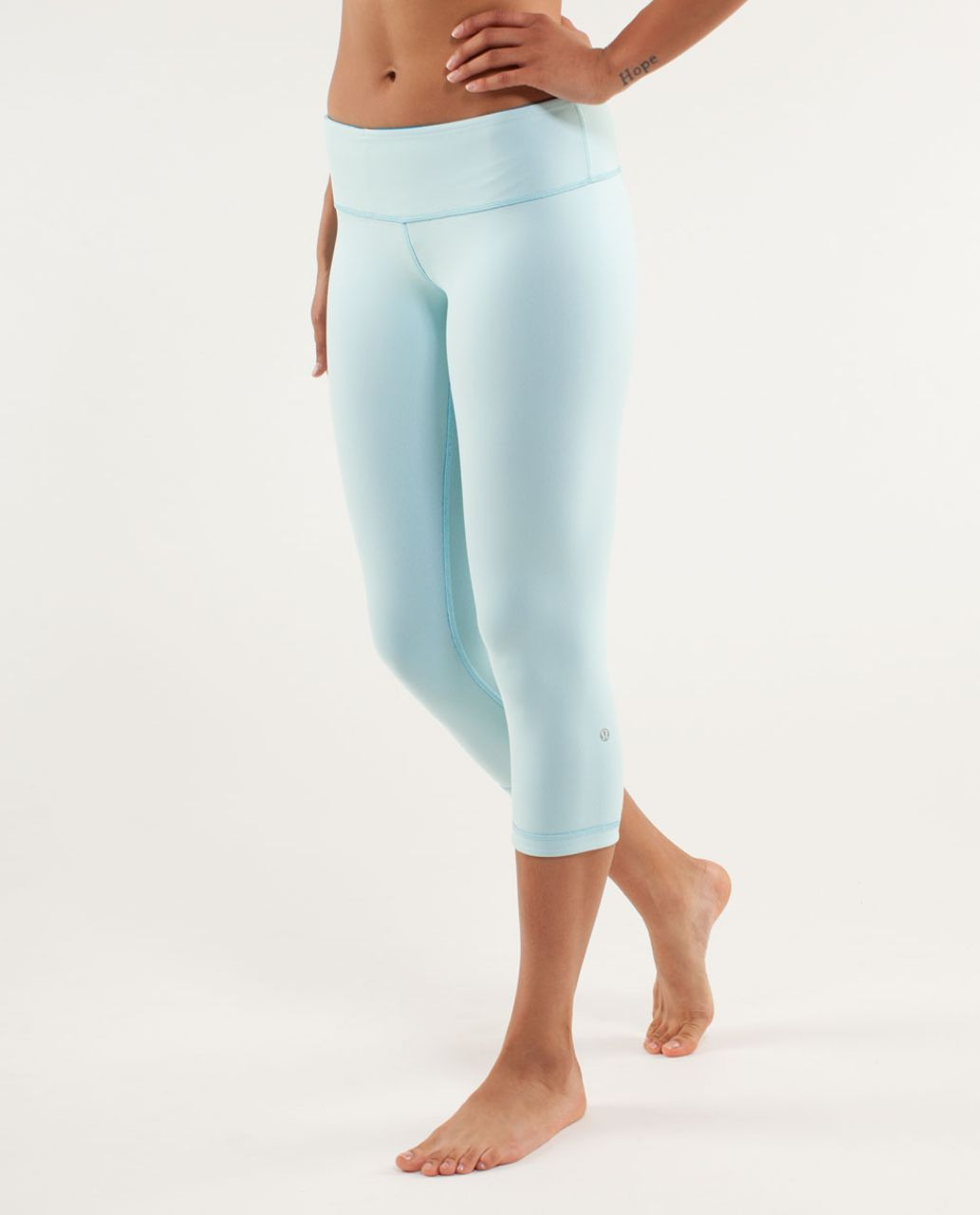 Lululemon Wunder Under Crop *Reversible - Beach Blanket Blue / Aquamarine