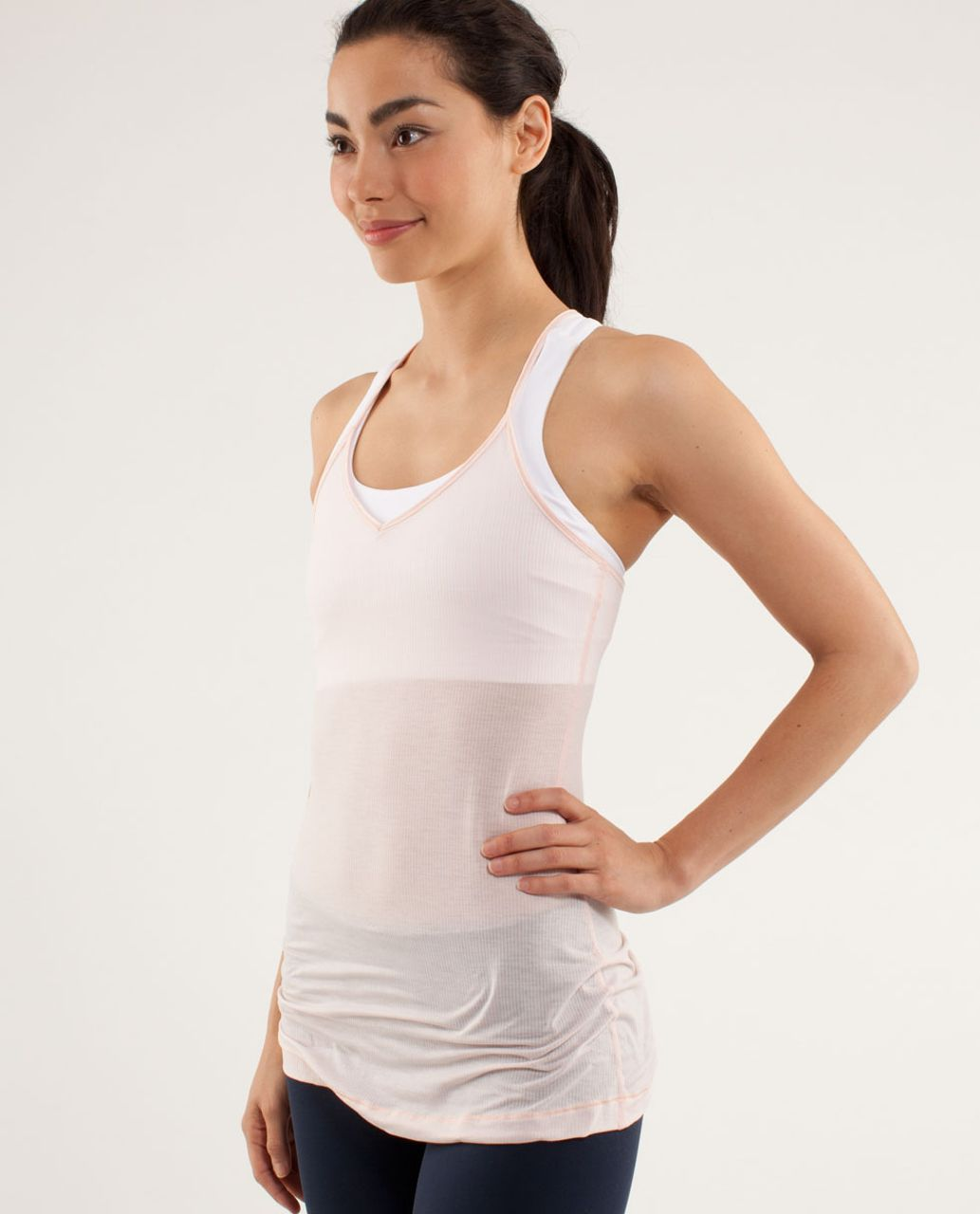 Lululemon Light Hearted Tank - Tonka Stripe Parfait Pink
