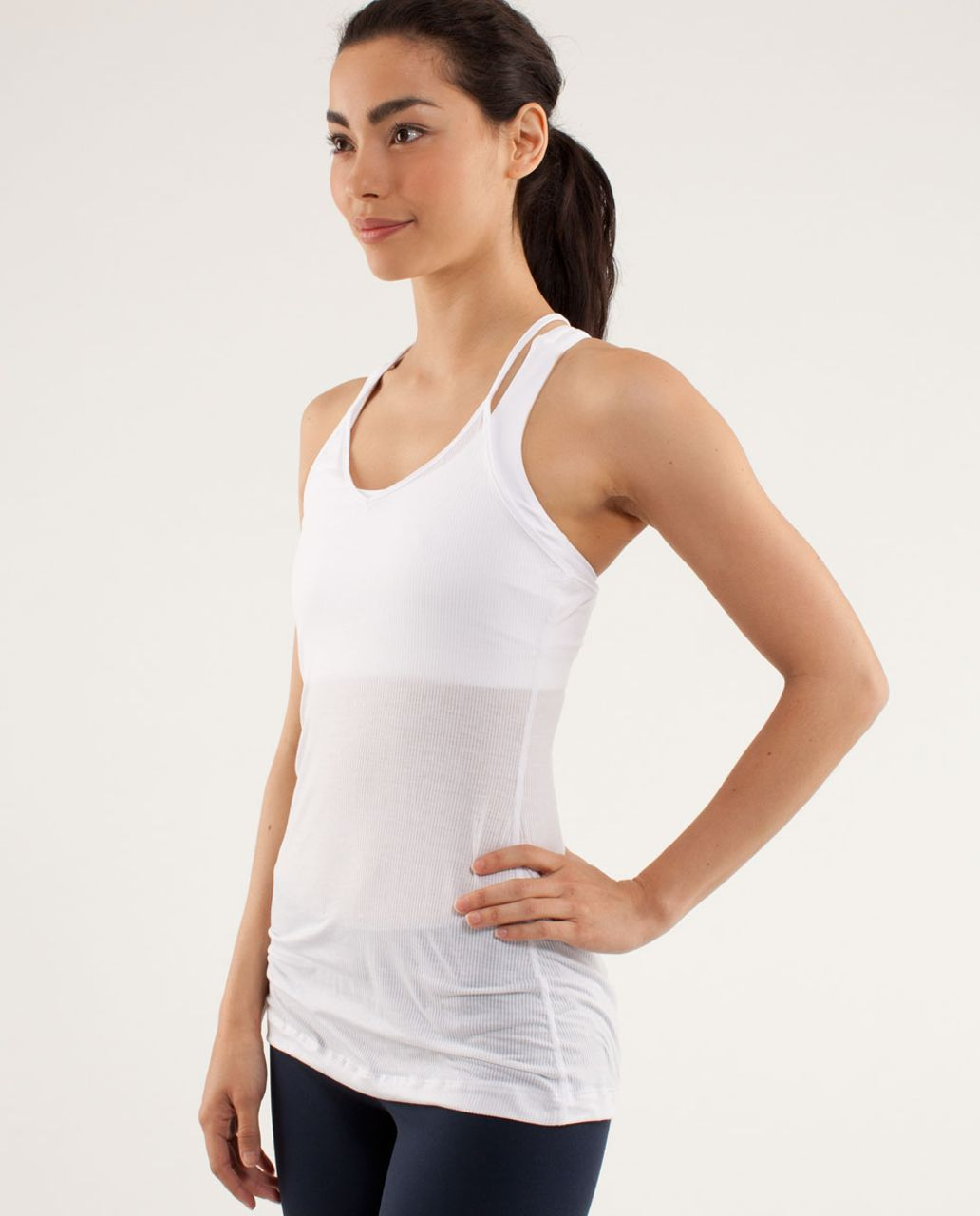 Lululemon Light Hearted Tank - Tonka Stripe White