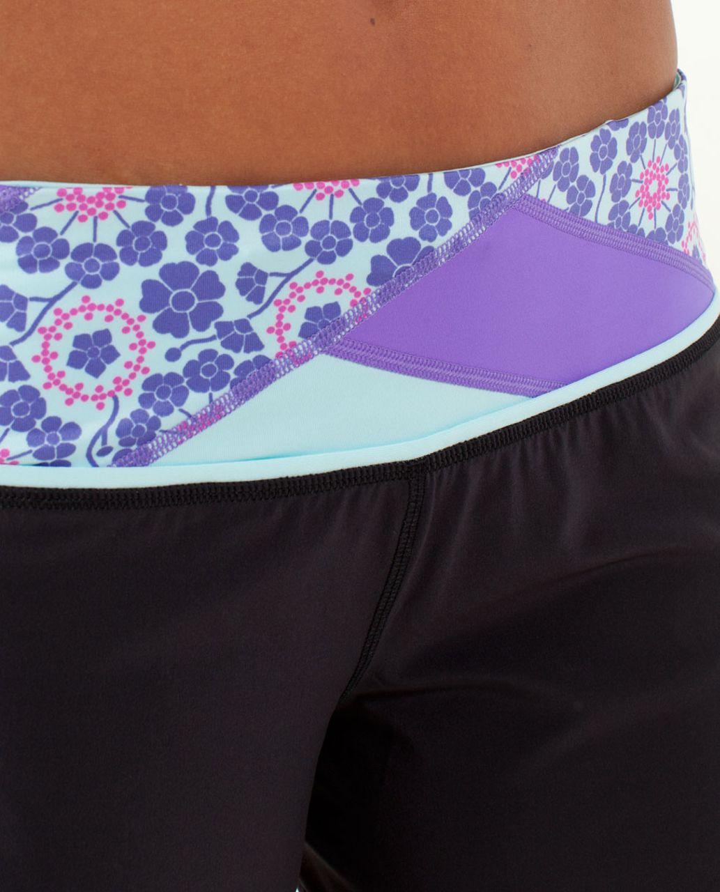 Lululemon Groovy Run Short - Black / Quilt Summer13 5 / Power Purple